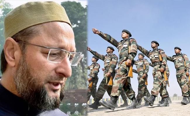Army Slams Owaisi for Communal Remarks - Sakshi