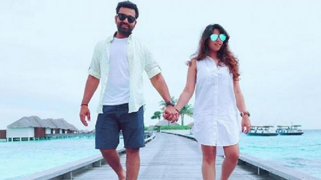 Rohit Sharma's Valentine's Day gift and message for wife  - Sakshi
