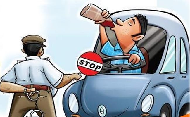 Seven people were jailed for drunken drive - Sakshi