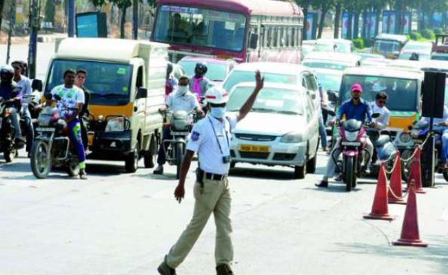 two days traffic restrictions in hyderabad - Sakshi