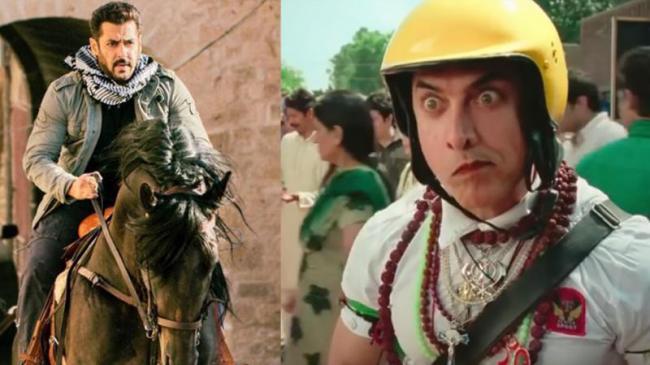 Salman Khan's Tiger Zinda Hai beats Aamir Khans PK - Sakshi