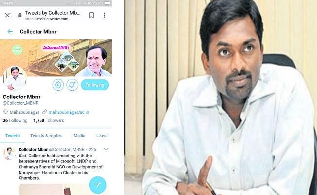 mahabubnagar district collector in social media  - Sakshi