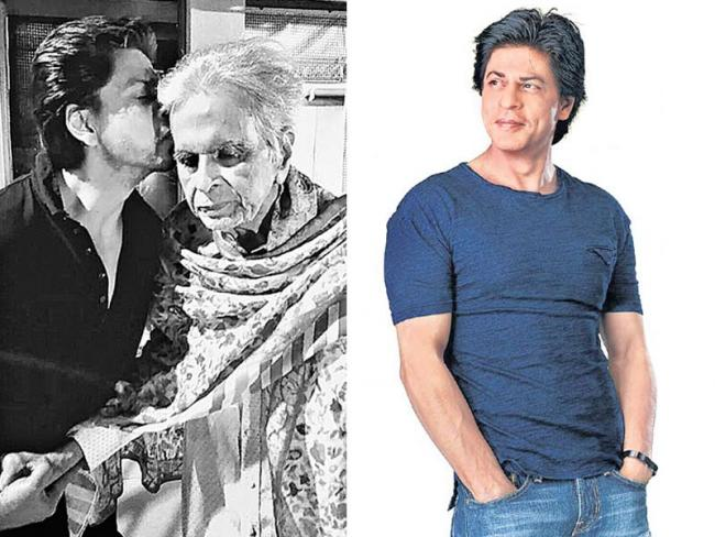 Shah Rukh Khan Visits Dilip Kumar - Sakshi