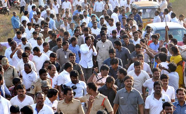 YS Jagans PrajaSankalpaYatra enters into Prakasam on 89th day - Sakshi