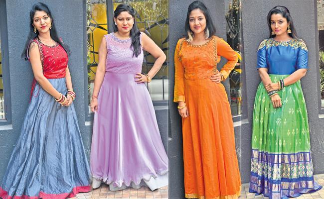 Old Wedding Sarees Remake To Dress - Sakshi