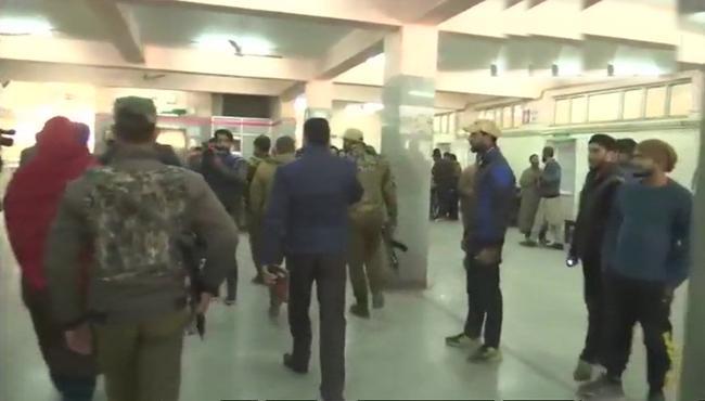 Pak Terrorists attacks at Maharaja Hari Singh hospital in Srinagar - Sakshi