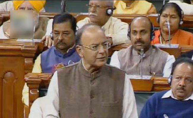 Finance Minister Arun Jaitley speech in loksabha - Sakshi