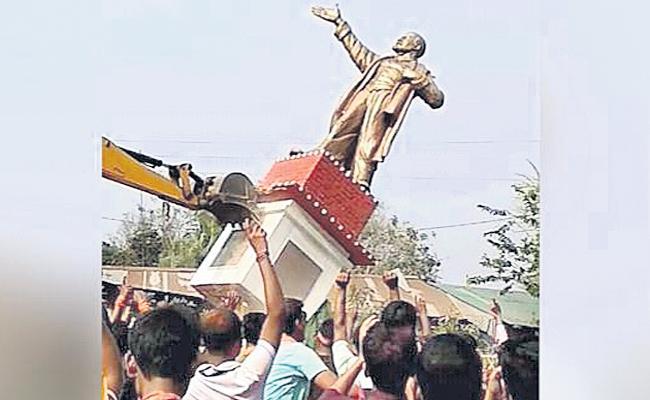 Statue Only Destroyed But Lenin Always Wins - Sakshi
