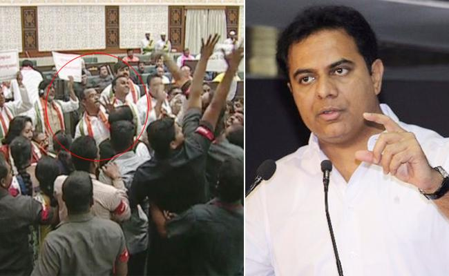KTR fires on Congress and says Scamgress has no subject material to discuss - Sakshi