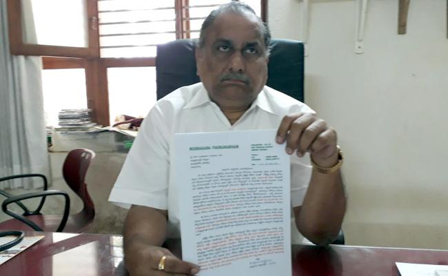 Mudragada Writes Letter To Chandrababu Naidu - Sakshi
