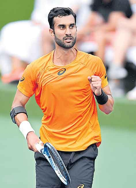 Yuki Bhambri's impressive run at Indian Wells ends - Sakshi