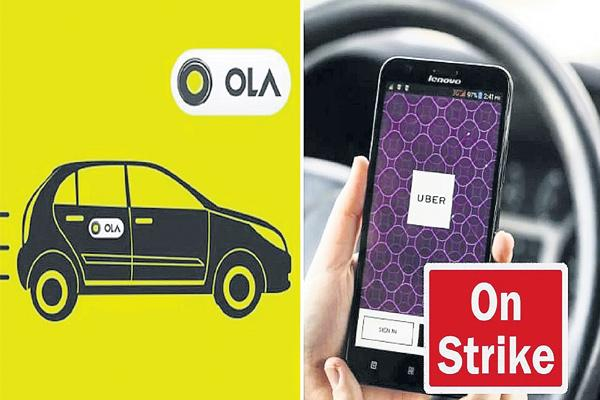 Uber, Ola drivers threaten indefinite strike from Sunday - Sakshi