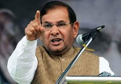 Working for a grand, anti-BJP alliance: Sharad Yadav - Sakshi