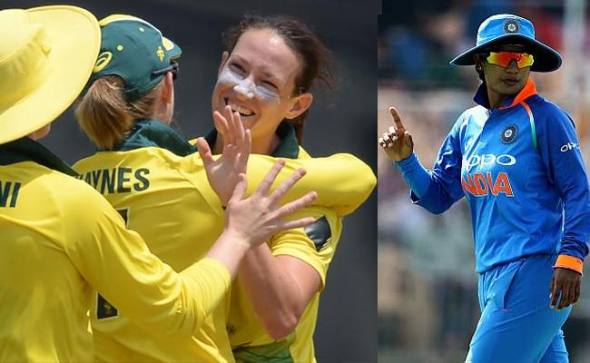 T20I Tri Series Australia won by 36 runs on Indian Women Team - Sakshi