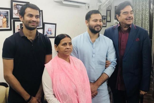 Shatrughan Sinha Praise Tejashwi Yadav Has A Bright Future - Sakshi