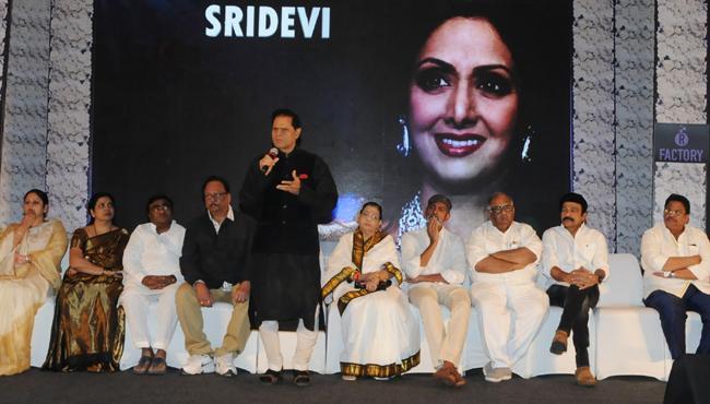 Condolence meeting for Sridevi in Hyderabad - Sakshi