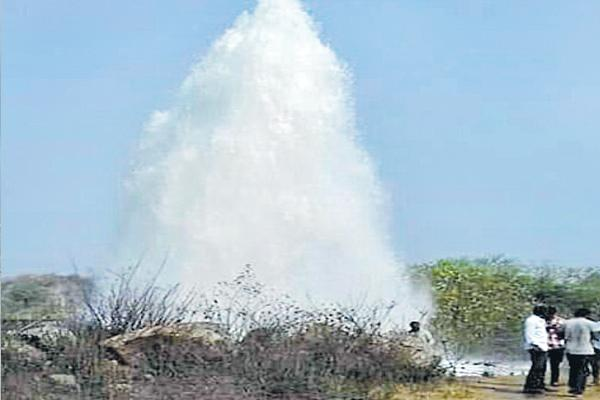 Pipe line distroyed by formers - Sakshi