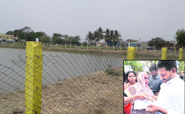 tdp leaders focus on Soldier land - Sakshi