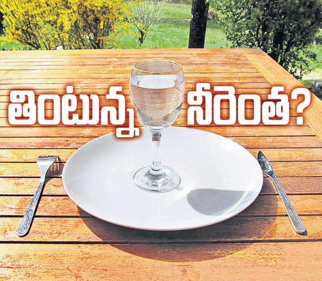 water footprint of food products - Sakshi