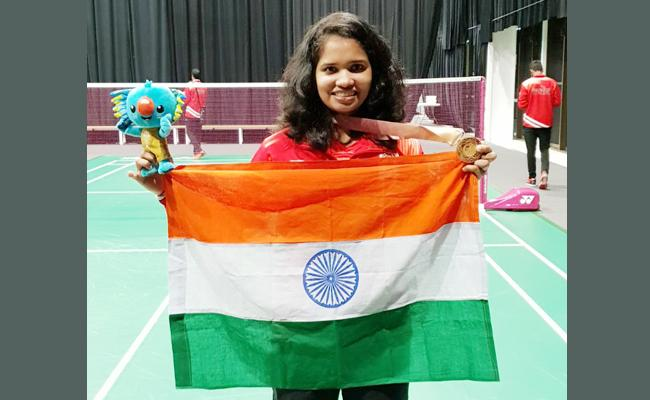 sikki reddy get gold medal in Commonwealth - Sakshi