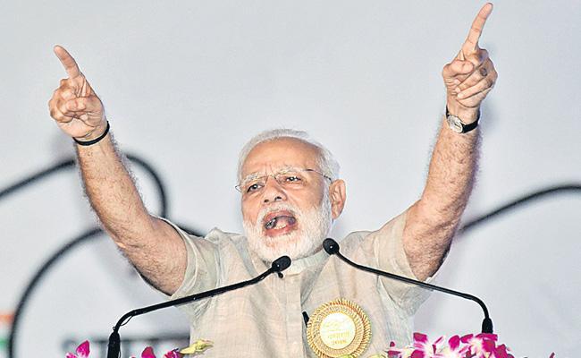PM Modi addresses swacchagrahis in Bihar's Motihari - Sakshi