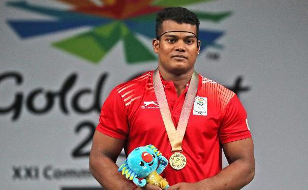 Weightlifter Venkat Rahul Ragala Receive Grand Welcome On Return - Sakshi