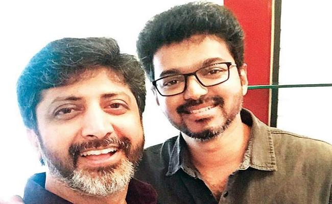 Vijay and Mohan Raja Meet For A Discussion - Sakshi