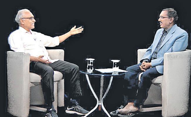 KSR Manasulo Maata With CPM Leader BV Raghavulu - Sakshi