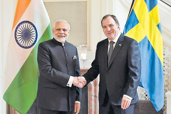 India, Sweden to work on security agreement - Sakshi