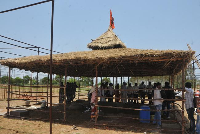 All Set Up For Mahayajna In Sri Chakripuram peetham - Sakshi