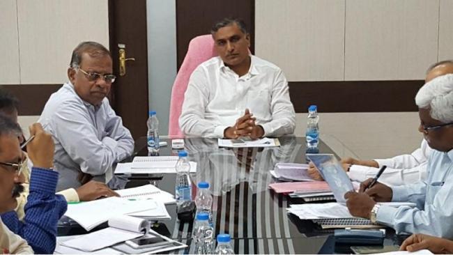 Minister harish Rao Review Meeting On Kaleshwaram Project Works - Sakshi
