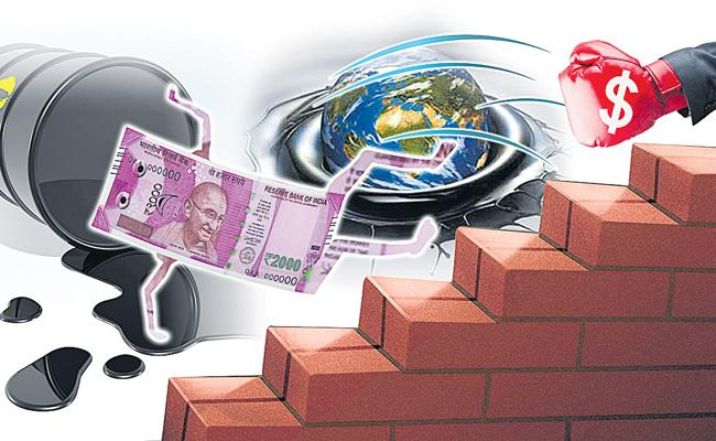 Rupee ends lower for the 5th straight session - Sakshi