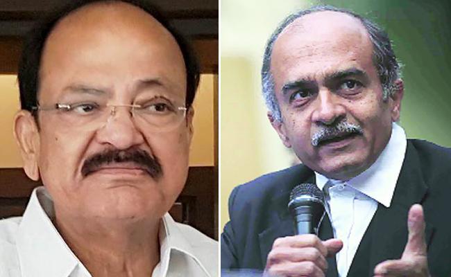 Venkaiah Not Has Right To Reject impeachment notice, Prashant Bhushan - Sakshi