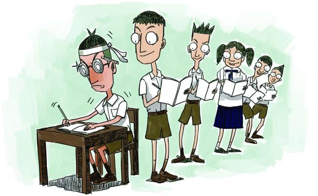 Mass Copying In Metpally Open Degree Exam Centre - Sakshi