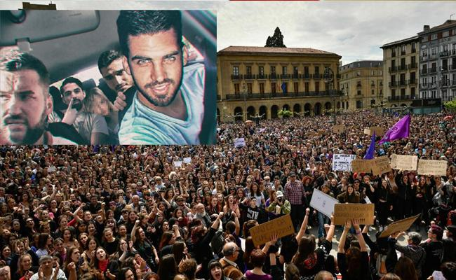 Wolf Pack Case Protest Continues in Spain - Sakshi