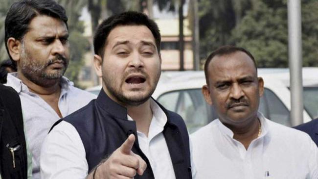 Tejashwi Yadav Dares BJP To Chargesheet Him - Sakshi
