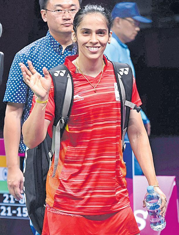 Saina stars as India enter badminton mixed team finals at CWG - Sakshi