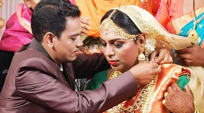 Transgender Couple Gets Married In Kerala - Sakshi
