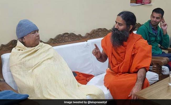 Ramdev Visits Lalu Yadav, Urges Him To Take Up Yoga - Sakshi