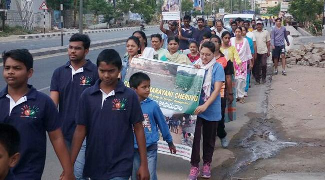 Save Annarayani Cheruvu Rally In Nagaram - Sakshi