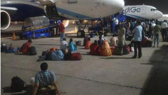 IndiGo Passengers Stranded On Tarmac For 7 Hours - Sakshi