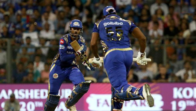 Mumbai Indians Set Target Of 187 Runs Against KXIP - Sakshi