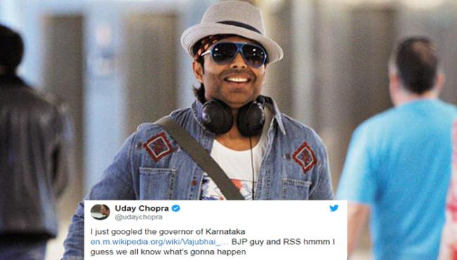 Bollywood Actor Uday Chopra Trolled Karnataka Governor As BJP Guy - Sakshi