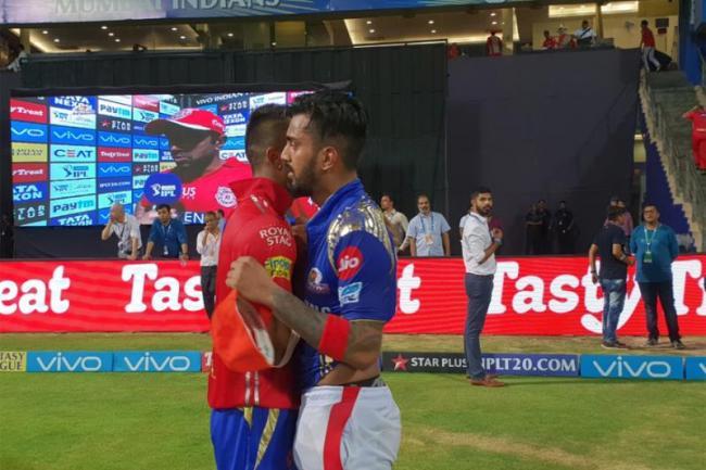 KL Rahul And Hardik Pandya Swaps Jerseys - Sakshi