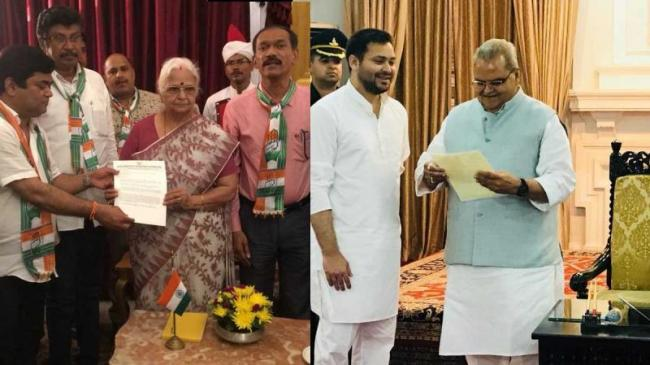 inspired By Karnataka Opposition Leaders Meet Governors In Bihar, Goa And Manipur - Sakshi