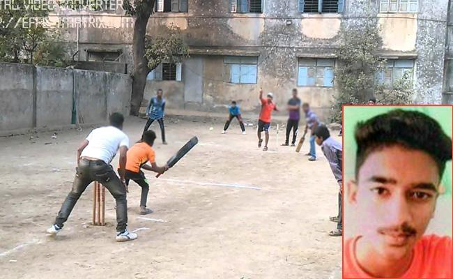 Student Died In Street Cricket Game - Sakshi