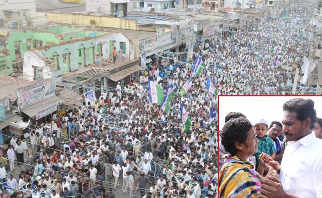 People Support To Ys Jagan In Praja sankalpa yatra - Sakshi
