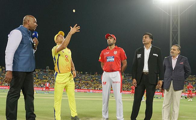 CSK Won The Toss And Choose To Field - Sakshi