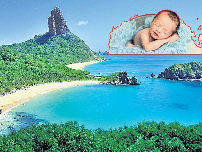 Lonely baby on the island - Sakshi
