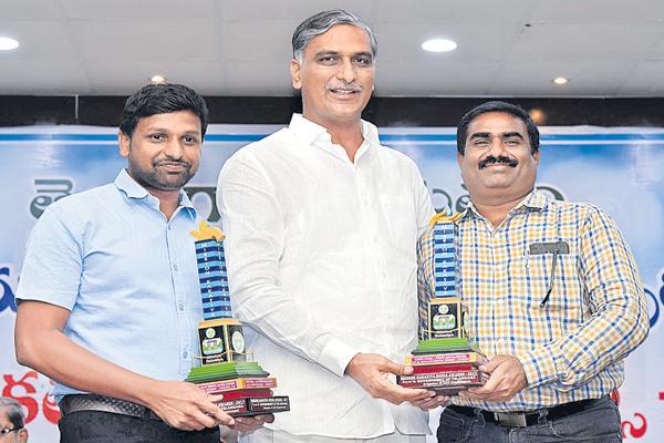 Minister Harish Rao comments at Mission Kakatiya Awards - Sakshi